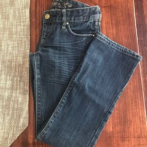 Express Barely Boot Lowrise Jeans